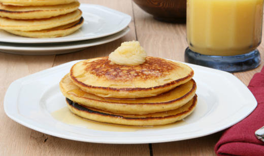 Florida Citrus and Honey Butter Pancakes