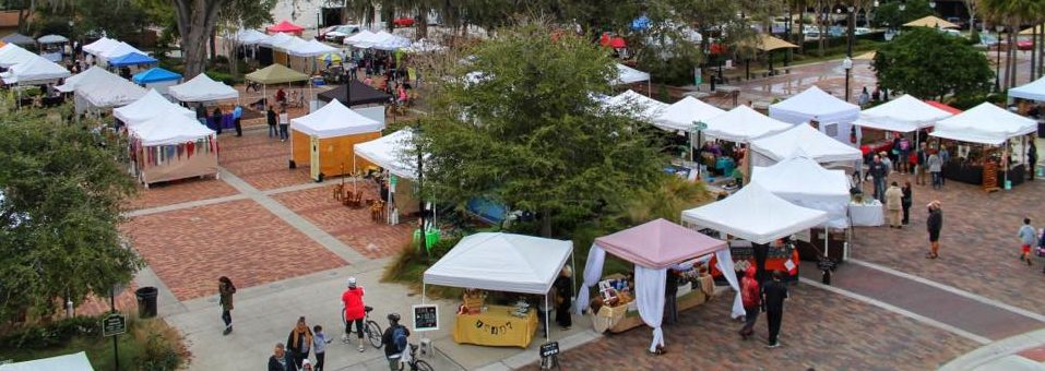 Winter Garden Farmers Market Aerial Photo