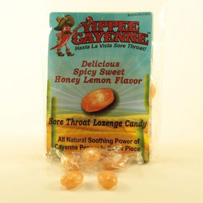 Yippee Cayenne Honey Lemon Sore Throat Lozenge Candy